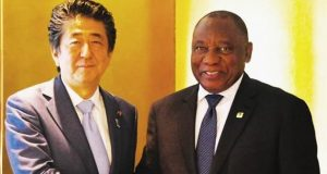 PM Shinzo Abe and Cyril Ramaphosa