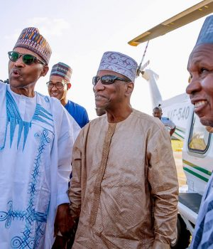 President Buhari, Alpha Conde of Guinea Conakry and Gov. Masari