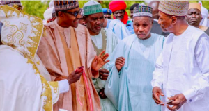 President Buhari with leaders in Katsina, Daura