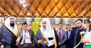 MWL chief Dr. Mohammed bin Abdulkarim Al-Issa inaugurates the organization's pavilion in Rimini, Italy.