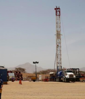 Tullow Oil explorational drilling site in Lokichar, Turkana