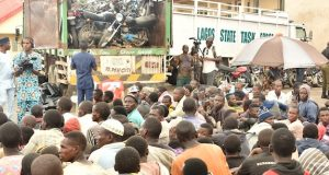 Truckload of biycles and people intercepted in Lagos