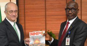Ambassador of the Republic of Turkey to Nigeria, Melih Uluren with NNPC's Mele Kyari