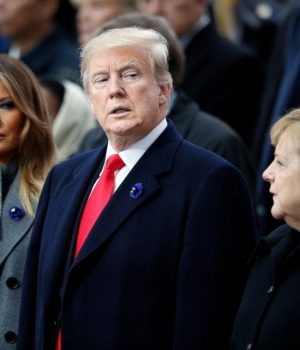 U.S President Donald Trump in France