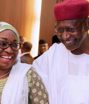Winifred Oyo-Ita and Abba Kyari