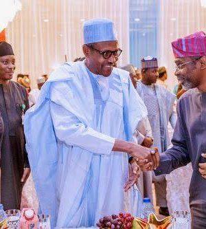 APC Chairman, Adams Oshiomhole, President Buhari and Gbajabiamilajpg
