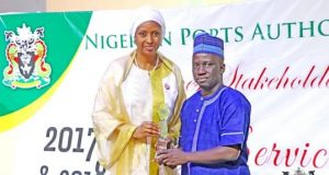 Bala Usman giving out an award