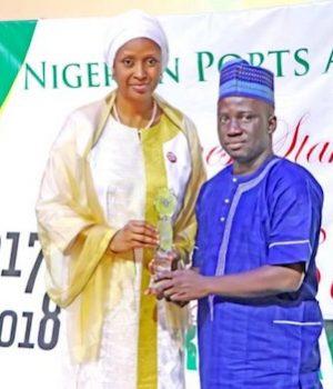 Bala Usman giving out an award