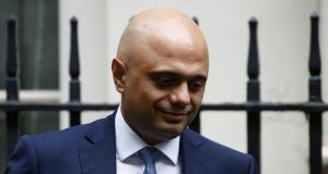Britain's Chancellor of the Exchequer, Sajid Javid