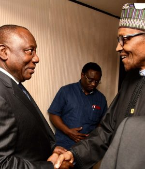 Presidents Buhari Ramaphosa