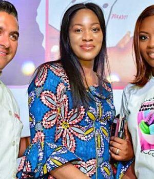 Celebs at Lagos cake fair