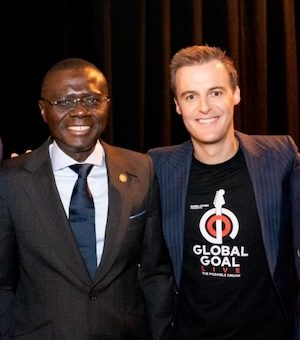 Imhoukhuede, Sanwo-Olu, Evans and Folawiyo of the Global Citizen Nigeria