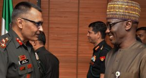 Brig. Gen. Sudhir Malik of Indian Army War College and Mele Kyari