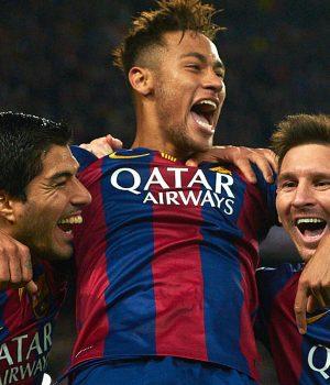 Luis Suarez, Neymar and Messi