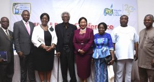 NLNG team and award panel at the announcement of winners