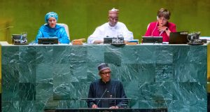 President Buhari addresses the UNGA