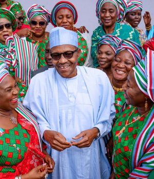 President Buhari with APC Women leaders