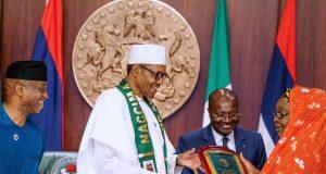 President Buhari with NACCIMA, others