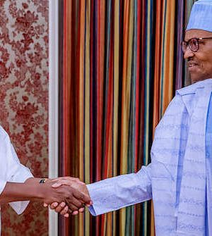 President Buhari with Sen. President Ahmad Lawan
