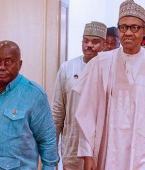 President Muhammadu Buhari and Nana Akufo-Addo of Ghana
