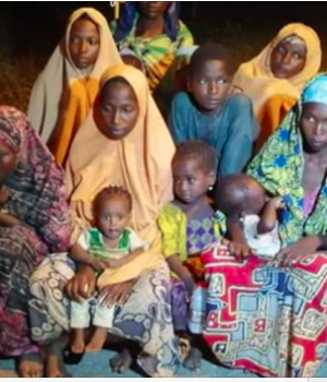 Newly freed kidnapped victims in Katsina