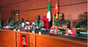 COAS Tukur Buratai and other top military commanders