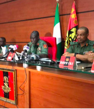 COAS Tukur Buratai and other top military commanders