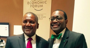 Aliko Dangote and Akinwunmi Adesina