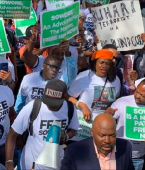 Anti-Buhari protest at the UN Headquarters, New York