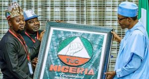 TUC President, Comrade Quadri Olaleye with President Buhari