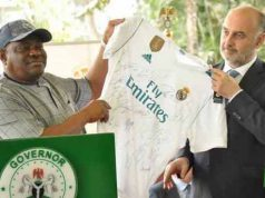 Gov. Wike with Real Madrid officials