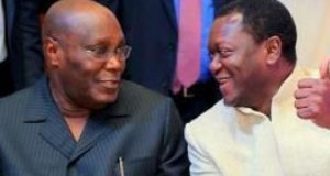 Atiku Abubakar and his lawyer, Uyiekpen Osagie-Giwa