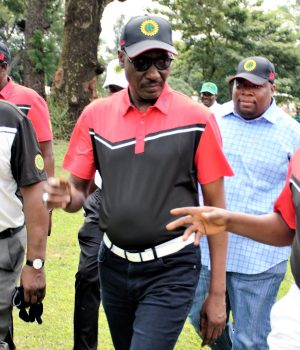 Kyari(m) after teeing off the 2019 NNPC Downstream Golf Tournament in Kaduna at the weekend