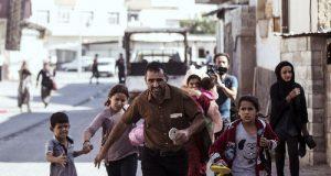 Civilians on the run as Turkey pouns Kurds target