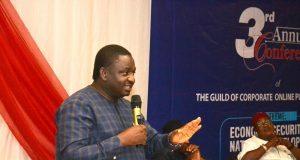 Femi Adesina speaks at GOCOP event