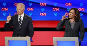 Former Vice President Joe Biden and U.S. Senator Kamala Harris