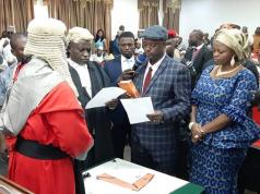 Edward Onoja been sworn in as Kogi deputy governor