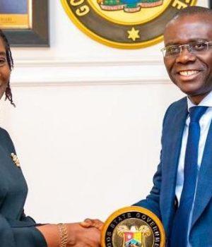 Justice Modupeola Atoki with Gov. Sanwo-Olu
