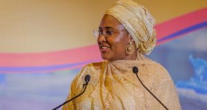 Aisha Buhari speaks at The Merck Foundation conference in Ghana
