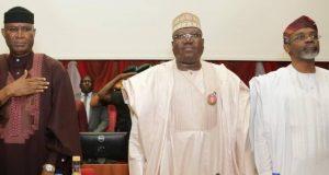 Ovie Omo-Agege, Sen. Ahmad Lawan and Speaker Femi Gbajabiamila