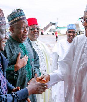 President Buhari congratulates Govs Simon Lalong of Plateau and Abdullahi Ganduje of Kano