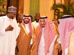 President Buhari with King Salman in Riyadh