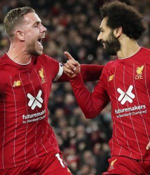 Salah celebrates triumph over Spur