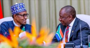 Presidents Buhari and Ramaphosa in Pretoria, South Africa