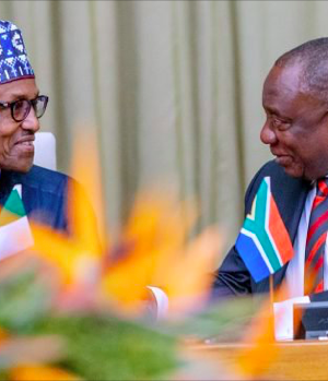 Presidents Buhari and Ramaphosa in Pretoria, South Africa