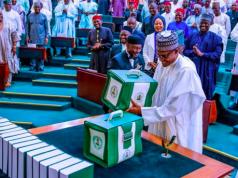 President Buhari presents budget