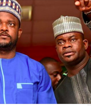 Edward Onoja with Gov. Yahaya Bello
