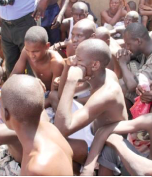 Some inmates rescued from a religious centre in the Sabon Garin area of Daura in Katsina state.