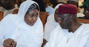 Aisha Buhari with Mallam Abba Kyari