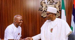 Bayelsa Gov-elect, David Lyon with President Buhari